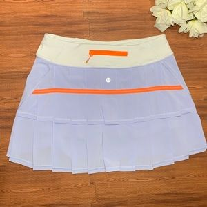 Lululemon Pace Rival Skirt Violet , Orange Size 6